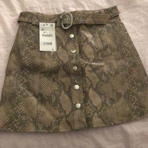 Zara snake skin skirt
